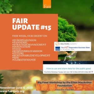 Fair Update 15 - June 6, 2020 - www.fairitaly.org
