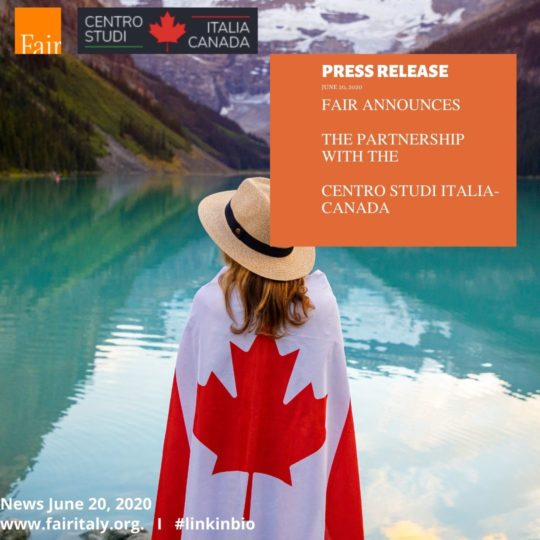 press release FAIR - CSIC Centro Studi Italia Canada - June 20, 2020